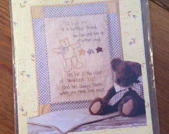 Teddy Bear Stitchery print pattern