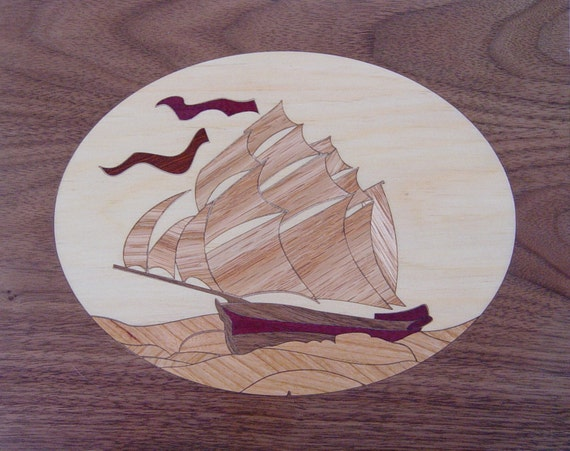 """8""""x 10"""" Marquetry Project Kit - Niagara"""