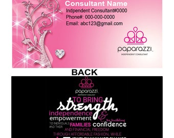 Pink Sparkle Business cards