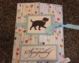Stampin Up Homemade Greeting Card Dog With Sympathy Card 7138