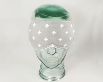 Swiss Cross Sleep Mask Plus Sign Eye Mask Sleeping Mask Woman Night Mask Blindfold Sleep Masks Velentines Gift Coworker Gift Man Sleep Mask