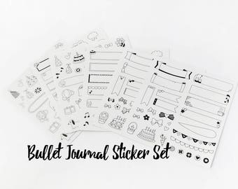 Bullet Journal Stickers // Banner Stickers •  Planner Stickers • Diary Sticker • Stationery • Cute Stickers • Craft • Organisation • BuJo