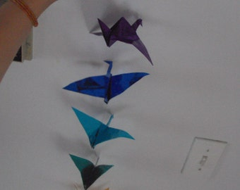 String of Birds (Origami Cranes)