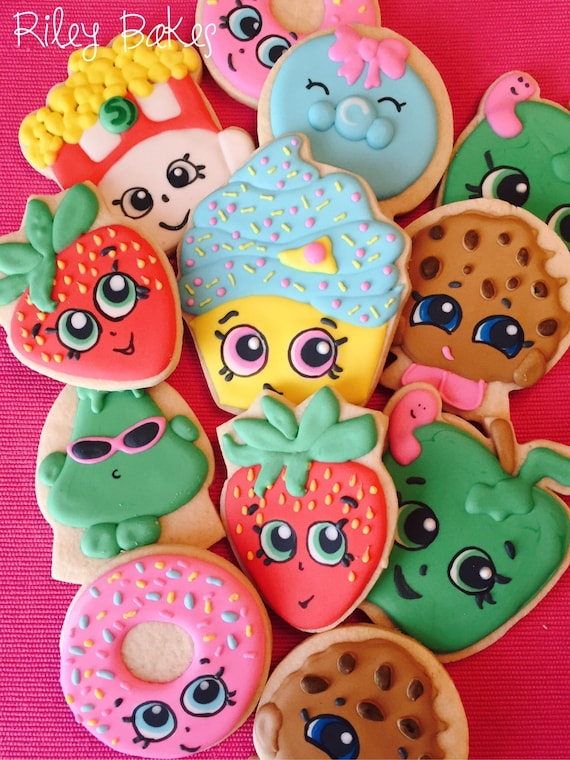 Shopkins Cookies Shopkins Party Shopkins Birthday Party