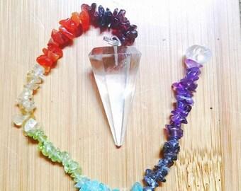 Chakra Pendulum  w/ Chakra Crystals