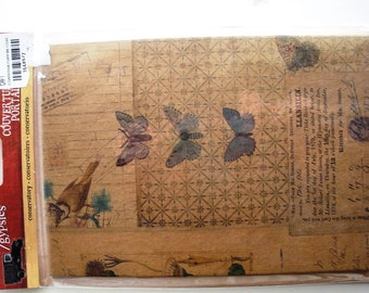 7 Gypsies Conservatory Butterflies Book Covers.  Heavy Chipboard Book Covers.  Contains Front and Back Book Covers.