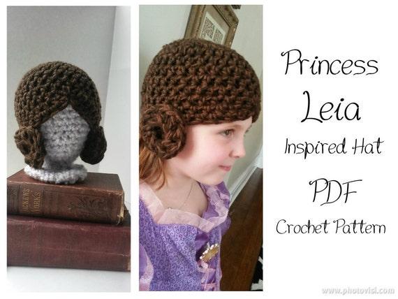 Princess Leia Inspired Crochet Hat Pattern