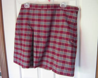 Vintage Royal Park Girls School Uniform Plaid Skirt Size 20 Teen Preowned