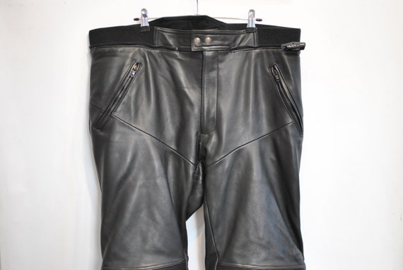 Vintage pants 088 leather LEATHER big MOTORCYCLE size PANTS men's 18Sq1rzw