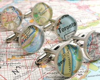 Gifts for Groom from Bride, Cufflink, Custom Map Cuff Links, World Map Cufflinks, Custom Cufflinks, Map Cufflinks