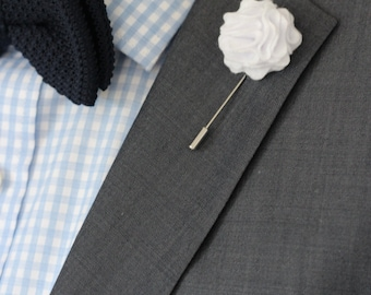 Lapell etsy lapel flower pin white carnation boutonniere wedding boutonniere rustic wedding boutonniere white boutonniere mightylinksfo