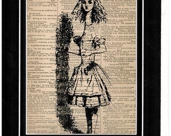 201 Alice in Wonderland vintage dictionary art