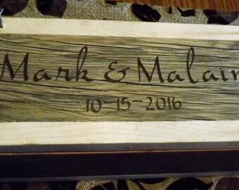 First Fight Box | Personalized Wine Box | Wedding Wine Box | Custom Wine Box | Wedding Shower | Wedding Gift | 1st Anniversary Box