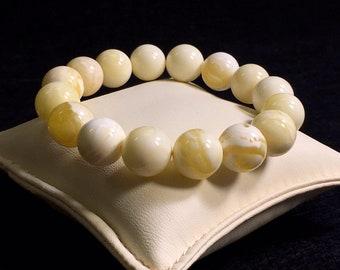 Natural Baltic Royal White Amber bracelet / amber bracelet /gift / amber jewelry