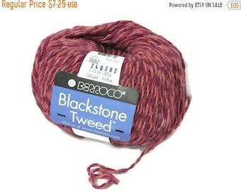 ON SALE New Berroco Blackstone Tweed Wool Blend Yarn/1 Ball/Wild Rose/ 2682