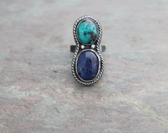 Sodalite and Turquoise Ring