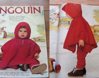 vintage pingouin no. 138 Baby infants knitting patterns layettes
