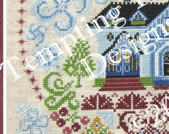 My Own Sweet Home Mystery SAL -  valentine bungalow, no place like home,blue victorian house,quaker flower garden,welcome home, cross stitch