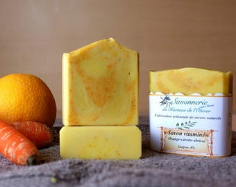 Carrot apricot orange vitamin SOAP.