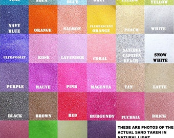 """1/2 lb Bags Unity Sand """"150+ Colors Available""""  Unity Ceremony ~ Wedding Sand Ceremony ~ Decorations ~ Colored Sand ~ Natural & Eco Friendly"""