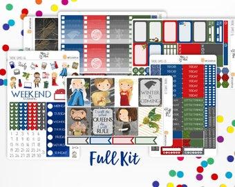Game of Thrones- Vertical WEEKLY KIT Planner Stickers