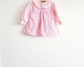 Vintage Pink Corduroy Dress and Shirt