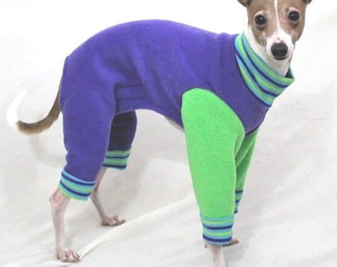"""Dog Pajamas.  """"Purple Apple Jams"""" - Italian Greyhound and small dog sizes"""