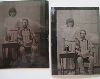 Tintype Photographs Attributed to CHARLES TREMEAR 1940's Greenfield Village, Dearborn, Michigan
