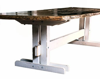 Wooden Table on Wooden Base