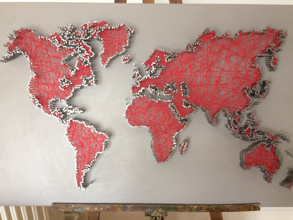 World map in string art string art world map gumiabroncs Image collections