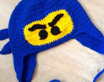 Crochet Lego Ninja - Ninjago - Custom Made - Newborn - Adult