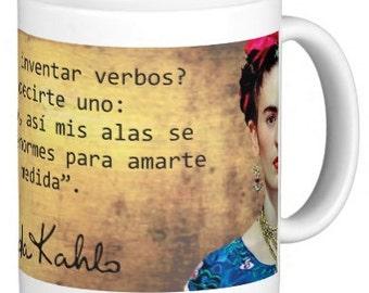Pocillo Artesanal de Frida Kahlo con Frase