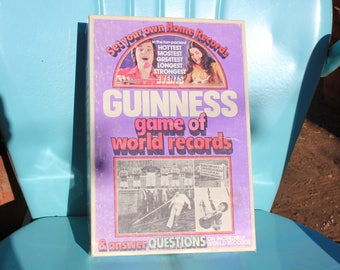 1975 Vintage Parker Brothers Guiness Book of World Records Board Game - Very Good Condition