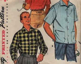 Einfachheit 1407 Männer Sport Shirts Jahrgang 1950 s © 1955 Zigarette rauchen Mann auf Umschlag