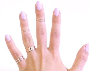 Mixed Midi Ring Set - Mixed Knuckle Ring Set