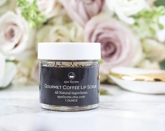 Gourmet Coffee Lip Scrub - 1 ounce | Sugar Scrub | Natural Lip Scrub Exfoliant | Bath and Body Gifts | Wholesale | Bath and Beauty | Wedding
