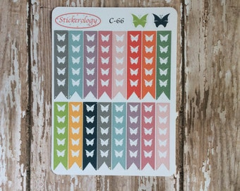 Butterfly Checklist Stickers for use with ERIN CONDREN LIFEPLANNER™, Pastel Stickers, C-66.