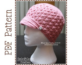 Newsboy Hat Crochet Pattern - NADIA Adult - 508