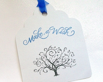 Wedding Wishing Tree Tags - Make a Wish with Tree - Alternative Guest Book (set of 50)
