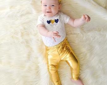 Gold Baby Leggings
