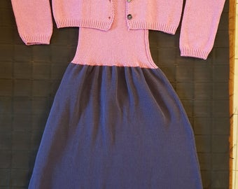 Knit dress complete with 2 jackets made in Italy piece.
