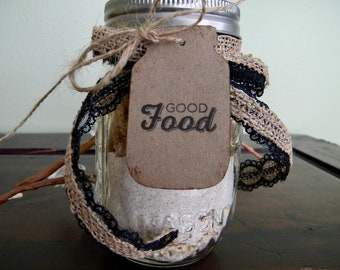 Mason Jar Gift Tags, Canning Jar Labels, Good Food Labels, Wedding Favor Tags, Jar Gift Tags, Mason Jar Labels, Set of 10