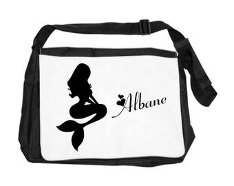 Mermaid bag personalized with name