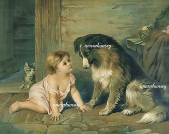 Child Dog Art Classic Can't You Talk #437
