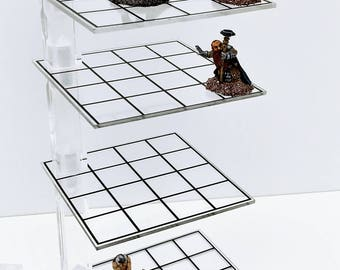 3D Combat Risers - Deluxe Set - Clear Mithril