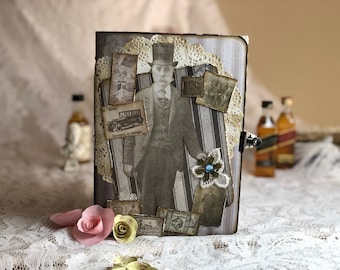 Vintage Junk Journal-Men, Tim Holtz-French industrial.