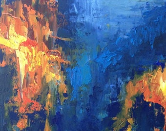 "High Quality Giclee Print From Original Abstract Expressionist Oil Painting-""Polarize"""