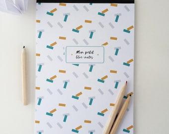 Small geometric 14x20cm Notepad