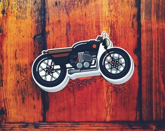 Cafe Racer Motorcycle Die-cut Sticker