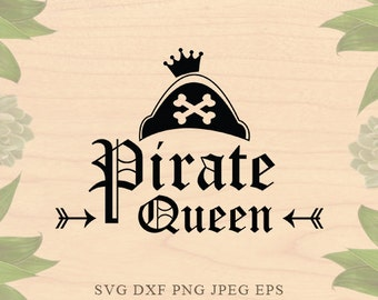 Pirate svg Pirate Queen svg Pirate girl svg Birthday svg Bride svg bride tribe svg Dxf eps Cricut files Cricut download Silhouette files